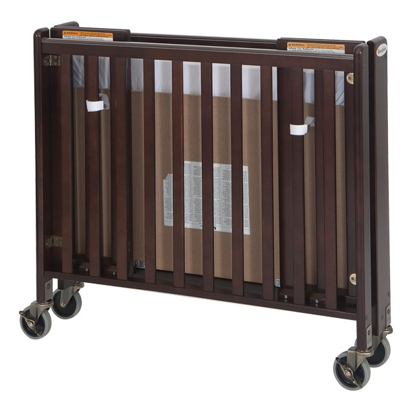 HideAway Compact Folding Safety Crib - Antique Cherry - Shown folded