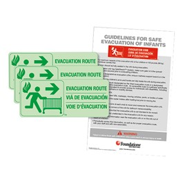 First Responder Evacuation Route Sign Kit