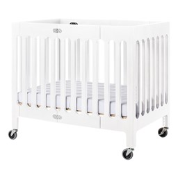Boutique Folding Wood Compact Crib - Matte White
