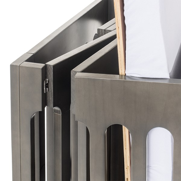 Boutique Folding Wood Compact Crib - Folded