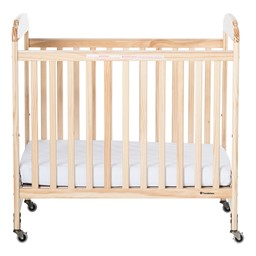 Next Generation Serenity Compact Fixed-Side Clearview Safety Crib - Natural