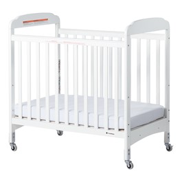 Next Generation Serenity Compact Fixed-Side Clearview Safety Crib - White