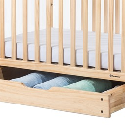 Next Generation Serenity SafeReach Clearview Compact Safety Crib - Natural - Drawer