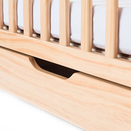 Next Generation Serenity SafeReach Clearview Compact Safety Crib - Natural - Drawer - Closed