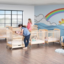 Next Generation Serenity SafeReach Clearview Compact Safety Crib - Natural