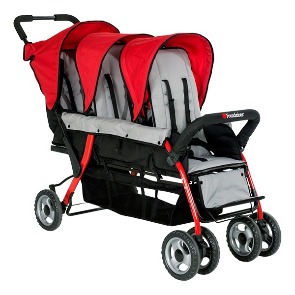 Trio Sport Tandem Stroller - Red