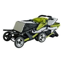 Trio Sport Tandem Stroller - Lime - Shown folded