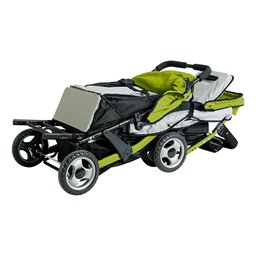 Trio Sport Tandem Stroller - Lime - Shown folded