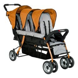 Trio Sport Tandem Stroller - Orange