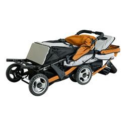 Trio Sport Tandem Stroller - Orange - Shown folded