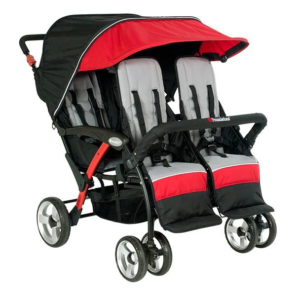 Quad Sport Stroller - Red
