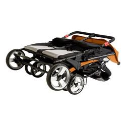 Quad Sport Stroller - Orange - Shown folded