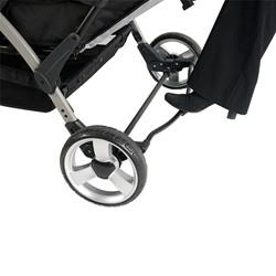 Quad Sport Stroller - Orange - Foot-activated brake detail