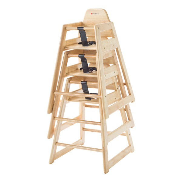 NeatSeat Hardwood High Chair - Natural - Stacked