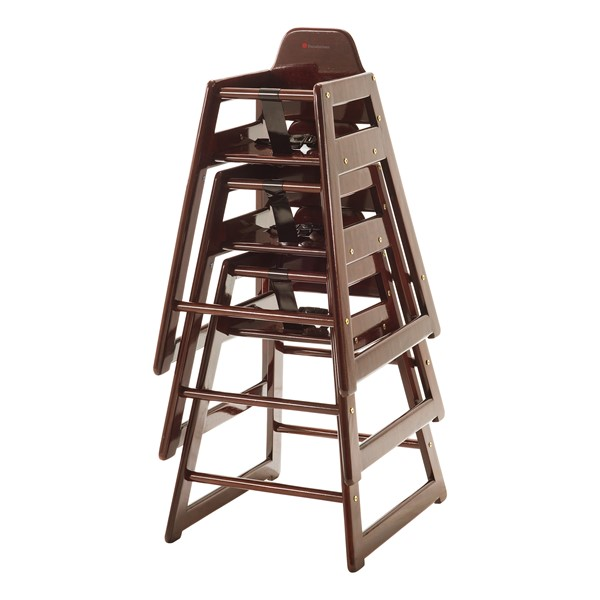 NeatSeat Hardwood High Chair - Antique Cherry - Stacked