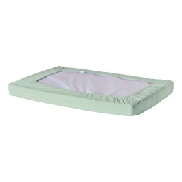 Pack of Six SafeFit Elastic Fitted Crib Sheets - Compact - Mint Green