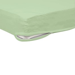 Pack of Six SafeFit Zippered Crib Sheets - Mint Green