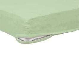 Pack of Six SafeFit Zippered Crib Sheets - Mint Green