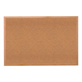 Premium Extra-Thick Natural Cork Board w/ Wood Frame