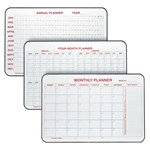 Calendar Markerboard Planners - Annual Planner, Four-Month Planner, Monthly Planner shown left to right