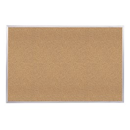 Traditional Natural Cork Board w/ Aluminum Frame