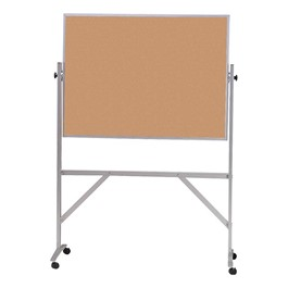 Double-Sided Corkboard w/ Aluminum Frame