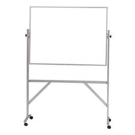 Double-Sided Mobile Whiteboard - Shown w/ Aluminum Frame