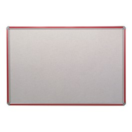 Deco Vinyl Tackboard w/ Colorful Frame - Shown w/ red frame