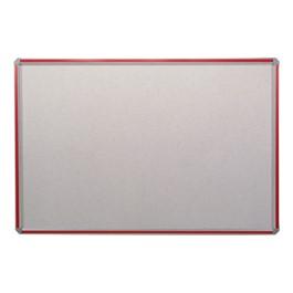 Deco Vinyl Tackboard w/ Colorful Frame - Shown w/ red frame