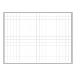 "Grid Magnetic Whiteboard w/ 2"" x 2\"" Pattern - (3\' W x 2\' H)"