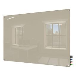 Harmony Colors Magnetic Glass Whiteboard w/ Radius Corners - Gray