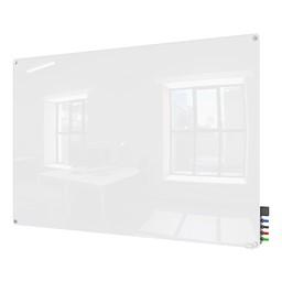 Harmony Colors Magnetic Glass Whiteboard w/ Radius Corners - White