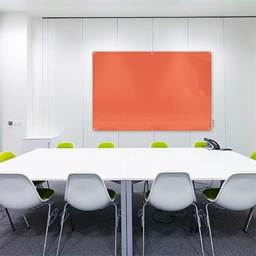 Harmony Colors Magnetic Glass Whiteboard w/ Radius Corners
