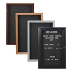 Indoor Enclosed Letter Boards w/ One Door - Many frame styles to choose from
