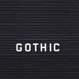 Plastic Letter Inserts - Gothic style shown