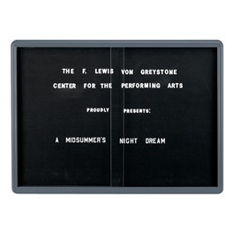 Ovation Radius Changeable Sliding Door Letter Board w/ Gray Frame