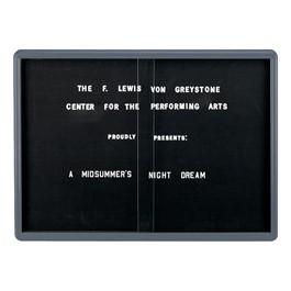 Ovation Radius Changeable Sliding Door Letter Board w/ Gray Frame