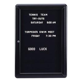 Ovation Radius Changeable Letter Board w/ One Door &  Black Frame
