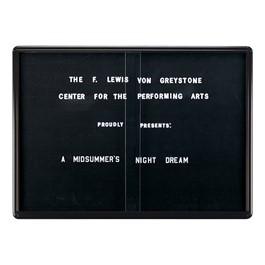 Ovation Radius Changeable Sliding Door Letter Board w/ Black Frame