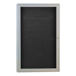 Indoor Enclosed Letter Board w/ One Door & Satin Aluminum Frame