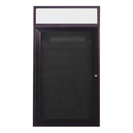 Letter Board w/ Header, One Door & Dark Bronze Aluminum Frame