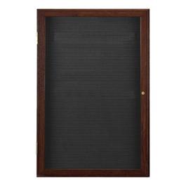 Indoor Enclosed Letter Board w/ One Door & Walnut Finish