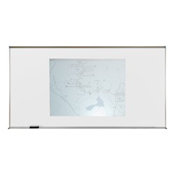 Proma Projection Magnetic Markerboard w/ Aluminum Frame - Use it as a markerboard & a projection screen.