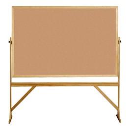 Double-Sided Corkboard w/ Wood Frame