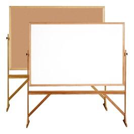 Reversible Markerboard/Corkboard w/ Wood Frame