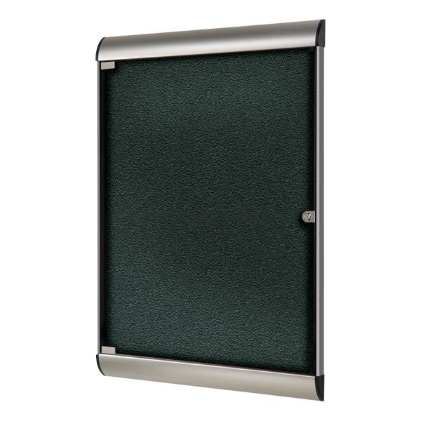 Silhouette Series Enclosed Tackboard - Vinyl<br>Shown in ebony