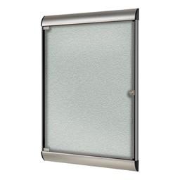 Silhouette Series Enclosed Tackboard - Vinyl<br>Shown in silver