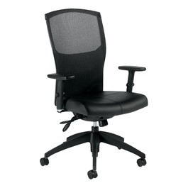 Alero Executive Chair w/o Head Rest - Black leather