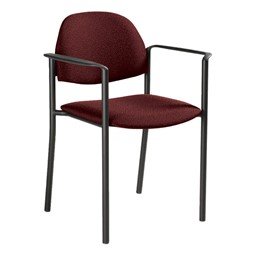 Comet Stack Chair w/ Arm Rests - Imagerie-Burgundy