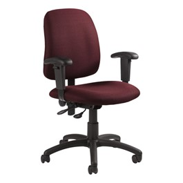 Goal Low Back Operator w/ Arm Rests - Pebbles-Rhapsody